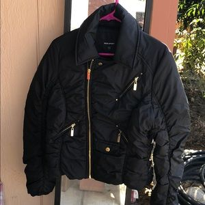 Black puff jacket